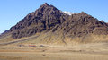 Mountain with farm near Hofn in east fjords in Iceland Royalty Free Stock Photo