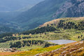 Mountain field and lake - mt evans colorado Royalty Free Stock Photo