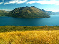 Mountain fjord Royalty Free Stock Photography