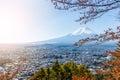 Mountain Fuji in Autumn Royalty Free Stock Photo