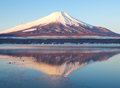 Mountain fuji in winter season from yamanashi japan Royalty Free Stock Photo