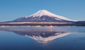 Mountain fuji in winter season from yamanashi japan Stock Photography