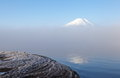 Mountain fuji in winter season from yamanashi japan Stock Photo