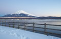 Mountain fuji in winter season from yamanashi japan Royalty Free Stock Images