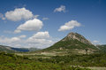 Mountain in gennargentu national park sardinia hill the middle of italy Royalty Free Stock Images