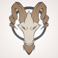 Mountain goat vector illustration of Royalty Free Stock Photography