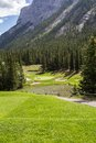Mountain Golf Course in Banff Royalty Free Stock Photo