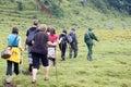 Mountain gorilla Trekking Royalty Free Stock Photo