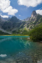 Mountain green lake high tatras slovakia europe Stock Image