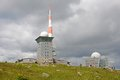 Mountain harz germany brocken the highest peak in the with television transmitter northern Stock Image