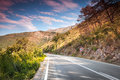 Mountain highway montenegro in soft morning sunlight Royalty Free Stock Photography