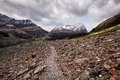 Mountain hiking trail Royalty Free Stock Photo