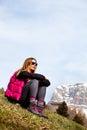Mountain Holidays. Hiking. Wom...