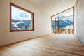 Mountain home room architecture modern design Stock Image