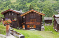 Mountain houses, valais, Stock Photography