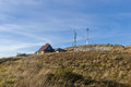 Mountain hut Bieszczady Mountains at Eastern Carpathians Poland Royalty Free Stock Photo