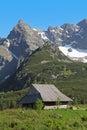 Mountain hut in gasienicowa valley tatra mountains poland zakopane Stock Photos