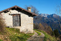 Mountain hut in val di scalve alps mountains italy Stock Photography