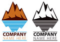 Mountain ice logo a icon of a moutain range in the distance Royalty Free Stock Photos
