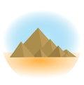 Mountain icon, flat, cartoon style. Jewish religious holiday Shavuot, Mount Sinai concept. Isolated on white background