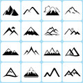 Mountain icons set illustration Stock Photo