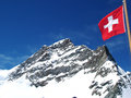 Mountain jungfrau high in swizerland Royalty Free Stock Photos