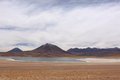 Mountain and Lagoon in San Pedro de Atacama, Chile Royalty Free Stock Image