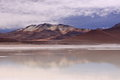Mountain and Lagoon in San Pedro de Atacama, Chile Royalty Free Stock Photo