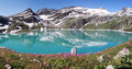 Mountain lake in apls austria panorama national park hohe tauern Royalty Free Stock Photo