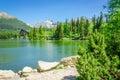 Mountain Lake On Background Of...