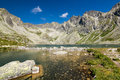 Mountain lake high tatras slovakia europe Stock Photography