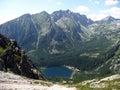 Mountain and lake high tatras slovakia europe in the summer Royalty Free Stock Photos