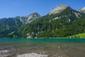Mountain lake at Kloental Royalty Free Stock Photos