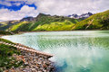 Mountain lake peak silvretta strasse mounain pass austria Stock Photography