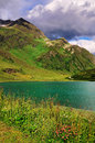 Mountain lake peak silvretta strasse mounain pass austria Royalty Free Stock Photo