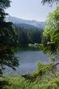 Horské jazero v lete