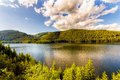 Mountain Lake Vidra summer evening view Royalty Free Stock Photo