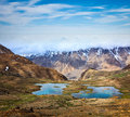 Mountain lakes in himalayas spiti valley himachal pradesh india Royalty Free Stock Photos