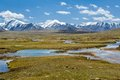 Mountain landscape arabel valley kyrgyzstan tien shan mountains Royalty Free Stock Image