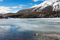 Mountain landscape beautiful lake frozen Royalty Free Stock Photo