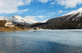 Mountain landscape beautiful lake ice Royalty Free Stock Images