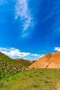 Mountain landscape blue sky over day Stock Photos