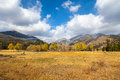Mountain landscape in fall a scenic of a colorado rocky mountains Royalty Free Stock Photo