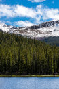 Mountain landscape mt evans colorado echo lake nature of mount taken from in snow covered mountains snow capped mountains and Stock Images