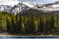 Mountain landscape mt evans colorado echo lake nature of mount taken from in snow covered mountains snow capped mountains and Royalty Free Stock Images