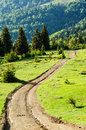 Mountain landscape muddy path in a Stock Image