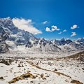 Mountain landscape in sagarmatha national park nepal view from kala patthar Stock Image