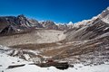 Mountain landscape in Sagarmatha, Nepal Royalty Free Stock Photography