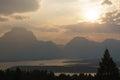 Mountain Landscape Sun Rays Royalty Free Stock Photo