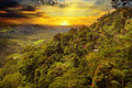 Mountain landscape and sunrise Royalty Free Stock Photo
